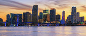 Panoramic sunset, Miami — Stock Photo