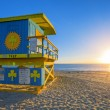 Stock Photo: Famous Miami South Beach sunrise