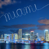 Miami in the sky — Stock Photo