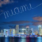 Miami in the sky — Zdjęcie stockowe