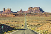 View of famous road to Monument Valley — Stock Photo
