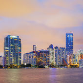 Miami Florida, sunset — Stock Photo