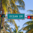 Stock Photo: OceDrive traffic light