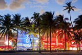 Ocean Drive at night — Foto Stock