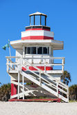 Famous lifeguard house — Foto Stock