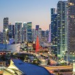 Stock Photo: Vertical view of Miami downtown