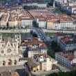 Stock Photo: Famous view of Lyon with cathedral