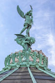 Saint-Michel statue — Stock Photo
