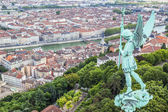 Aerial view of Lyon — Stock Photo