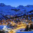 Village by night in winter — Stock Photo #42899761