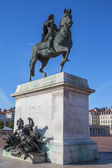 Famous statue of Louis XIV — Stock Photo