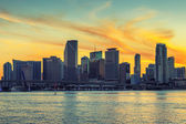 CIty of Miami Florida at sunset — Stock Photo