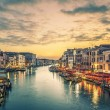 Famous grand canal from Rialto Bridge — Stock Photo