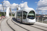 Tramway on a bridge — Stock Photo