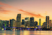 Famous cIty of Miami, summer sunset — Stock Photo
