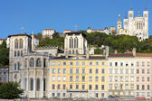 Lyon with basilica and cathedral — Stock Photo