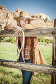 Cowgirl spirit — Stock Photo