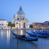 Basilica di Santa Maria della Salute and gondola. — Stock Photo