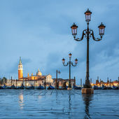 Venice and rain — Stock Photo