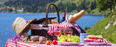 Panoramic picnic — Stock Photo