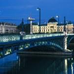 Famous bridge and University in Lyon — Stock Photo #50013103