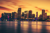 CIty of Miami at sunset — Stock Photo