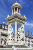 The famous Jacobin's Fountain in Lyon — Stock Photo