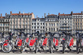 View of Lyon with bikes — Stock Photo