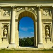 Detail of antique colonnade — Stock Photo