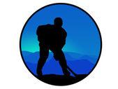 冰球运动员 — 图库照片