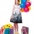 Little beautiful girl celebrate her birthday — Stock Photo #20840255