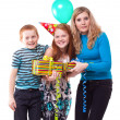 Royalty-Free Stock Photo: Happy Family celebrates birthday