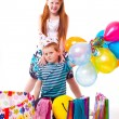 Redhead sister and brother celebrates birthday - Lizenzfreies Foto