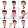 Many different boy expressions  — Foto Stock