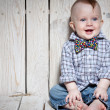 Stock Photo: Laughing stylish kid
