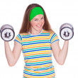 Portrait of young fitness woman — Stock Photo