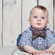 Stylish funny little boy — Stock Photo #23989295