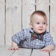 Stylish funny  little boy — Stock Photo