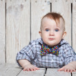 Stock Photo: Stylish funny little boy