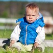 Portrait of cute angry little boy — Stock Photo