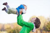Mother and Son Having Fun — Stockfoto