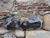Flint wall — Stock Photo