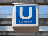 Signo de ubahn — Foto de Stock