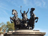 Boadicea monument London — Stock Photo