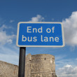 End of bus lane — Stock Photo #13264730