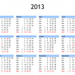Year 2013 calendar — Stock Photo