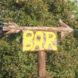 bar sign — Stock Photo