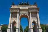 Arco della pace, milán — Foto de Stock