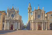 Santa cristina e san chiesa carlo — Foto Stock