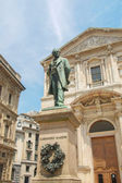 Manzoni statue, Milan — Stock Photo